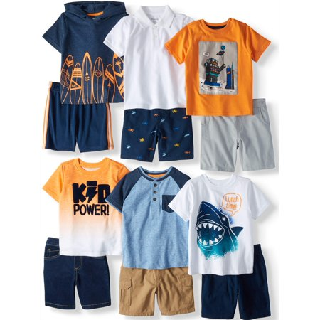 Garanimals Mix & Match Outfits Kid-Pack Gift Box, 12pc Set (Toddler Boys)