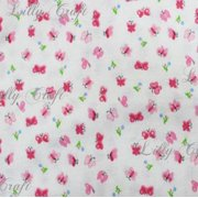 Flannel Butterfly Pink 45 Inch Fabric by the Yard