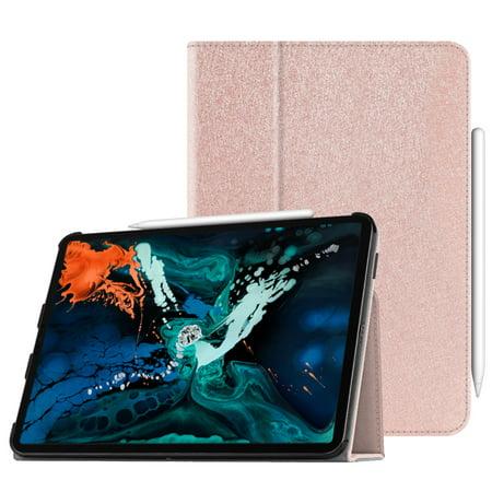 Fintie Coque iPad 3ème Gen 2018 de 12,9 pouces pour iPad avec porte-crayon sécurisé, Or Rose - image 6 de 6