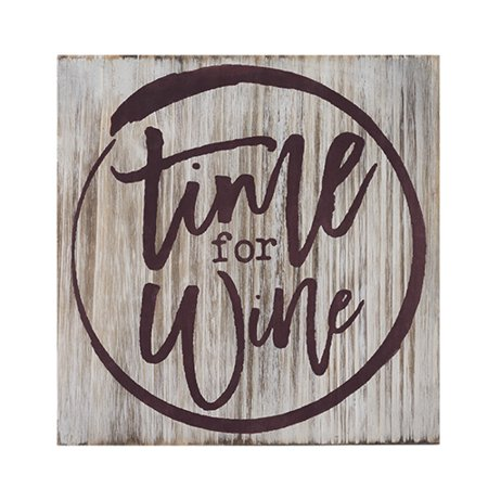 Grapevine™: Time For Wine Decorative Plaque by Twine