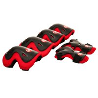 Punisher Elbow, Knee and Wrist Skateboard Pad Set, Youth 8+, Red