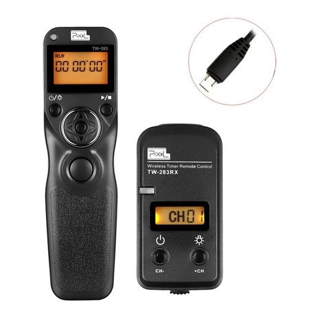 WINOTAR PIXEL TW-283/S2 LCD Wireless Shutter Release Timer Remote Control for Sony A7 A7 II A7R A7R II HX300