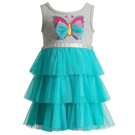 Infant Butterfly Dress (Youngland Infant Girls Gray Butterfly Tutu Dress 18)