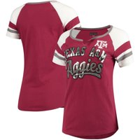 Texas A&M Aggies 5th & Ocean by New Era Women's Baby Jersey Split Scoop Neck Ringer T-Shirt - Maroon