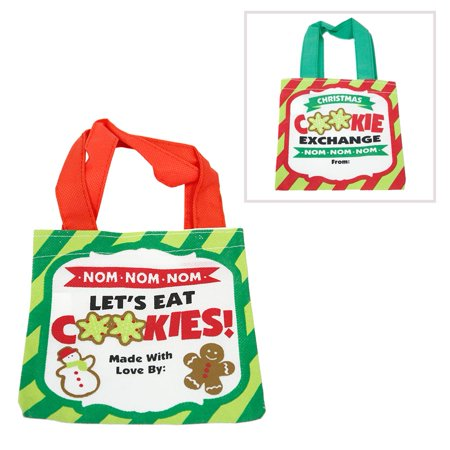 Holiday Cookies Tote Bag - Holiday Cookie Bags