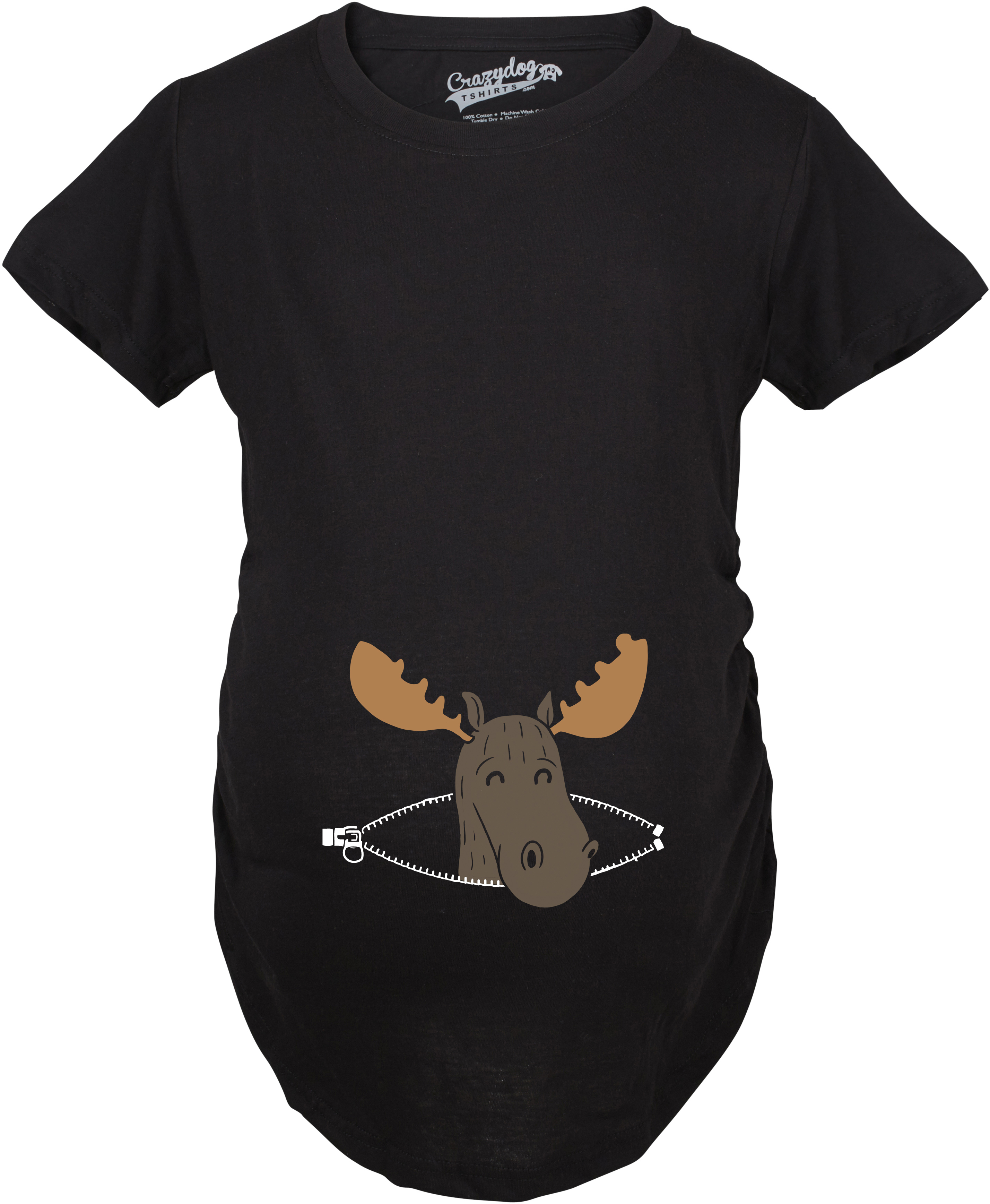 Crazy Dog TShirts - Maternity Peeking Moose Announcement Funny Pregnancy Gift T shirt
