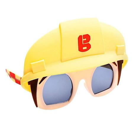 Costume Builder (Party Costumes - Sun-Staches - Bob the Builder Dark Lens Yellow Helmet)