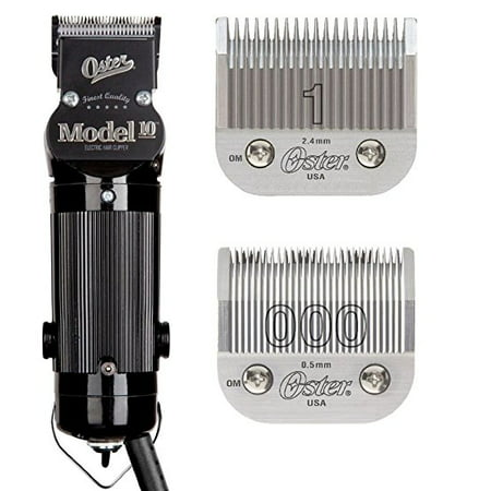 Oster Model 10 Professional Hair Clippers with Exclusive Break Resistant Housing, Comes with #000 Blade and BONUS FREE #1 Blade ()