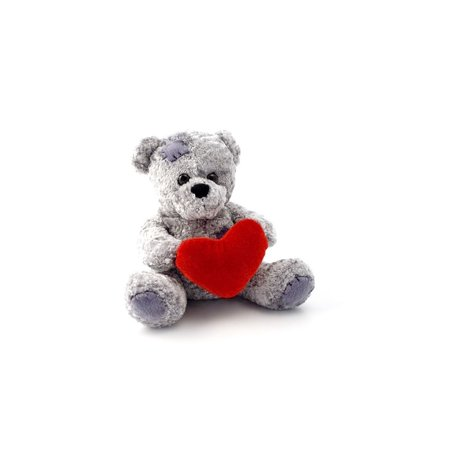 LAMINATED POSTER Heart Animal Teddy Children Toy Bear Fluffy Soft Poster Print 24 x 36