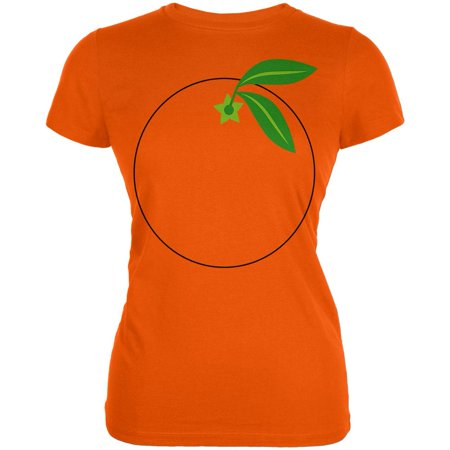 Halloween Fruit Orange Costume Juniors Soft T Shirt](Runescape 07 Halloween)