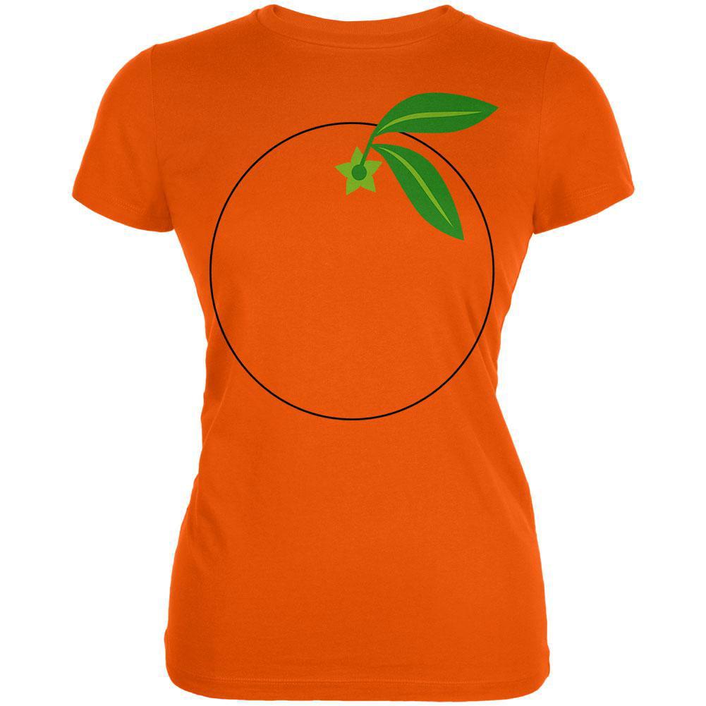 Halloween Fruit Orange Costume Juniors Soft T Shirt
