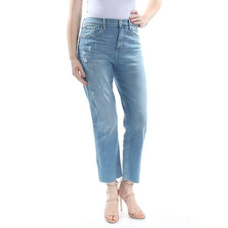 BLACK DAISY Womens Blue Frayed Jeans Juniors Size: 9