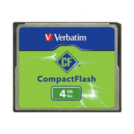 Verbatim - Flash memory card - 4 GB - CompactFlash - for P/N: 97705, 97706 (Compact Flush)