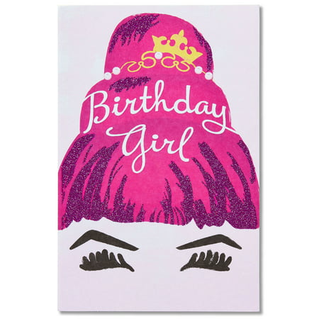 American greetings birthday girl birthday card for her with glitter american greetings birthday girl birthday card for her with glitter m4hsunfo