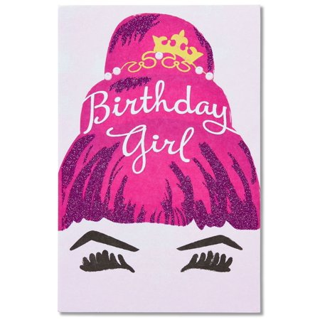 American Greetings Birthday Girl Card For Her With Glitter