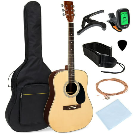 Best Choice Products 41in Full Size All-Wood Acoustic Guitar Starter Kit w/ Foam Padded Gig Bag, E-Tuner, Pick, (Best Martin Guitar Under 2000)