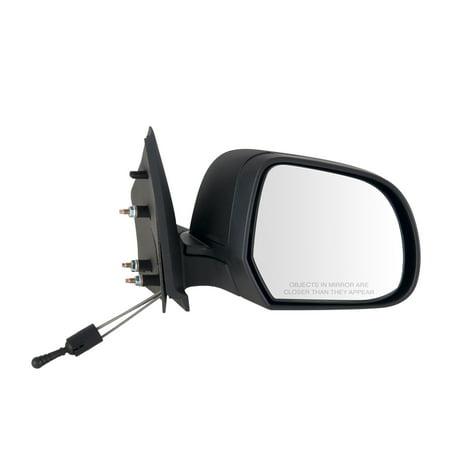 68637N - Fit System Passenger Side Mirror for 12-14 Nissan Versa Sedan, textured black, foldaway, Manual Remote