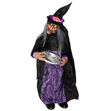 The Holiday Aisle Halloween Animated Witch Figurine