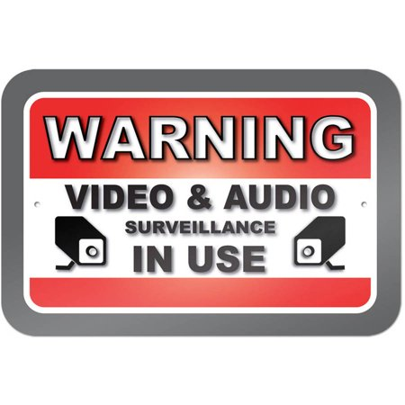 Moose Warning Sign - Warning Video And Audio Surveillance In Use Sign