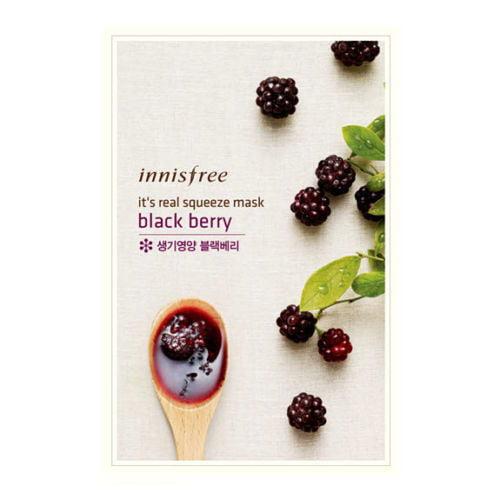 INNISFREE It's Real Squeeze Mask - Blackberry  (3 Paquets) - image 1 de 1