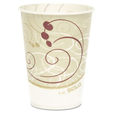 Waxed Cold Paper Cup - Dart SCCR9NSYM Waxed Paper Cold Cups, 9 Oz., Symphony Design, 100/bag