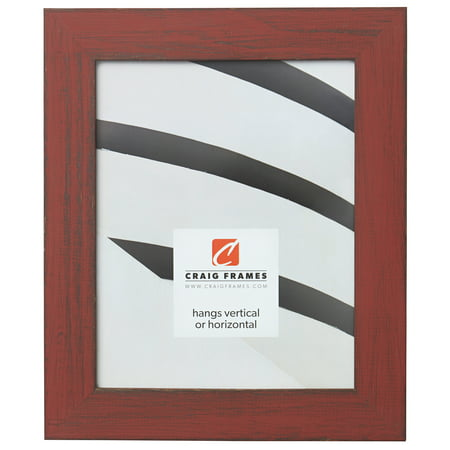 Craig Frames Jasper, Country Alabama Red Picture Frame, 10 x 12 Inch ()