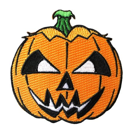 Scary Jack-O-Lantern Patch Kreepsville Halloween Pumpkin Craft Iron-On - Halloween Pumpkin Patch