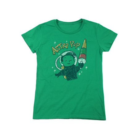Astro Pop 1960's Rocket Pop Candy Vintage Astro Boy Women's T-Shirt - 1960's Halloween Candy