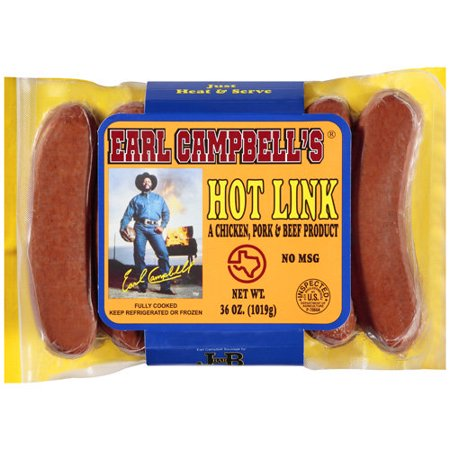 Earl Campbell Meat Products Earl Campbells Hot Link 36 Oz