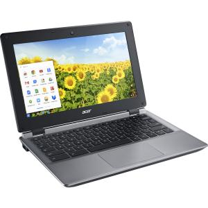 "Acer Black 11.6"" C730 Chromebook PC with Intel Celeron N2840 Processor, 2GB Memory, 16GB eMMC Drive and Chrome"