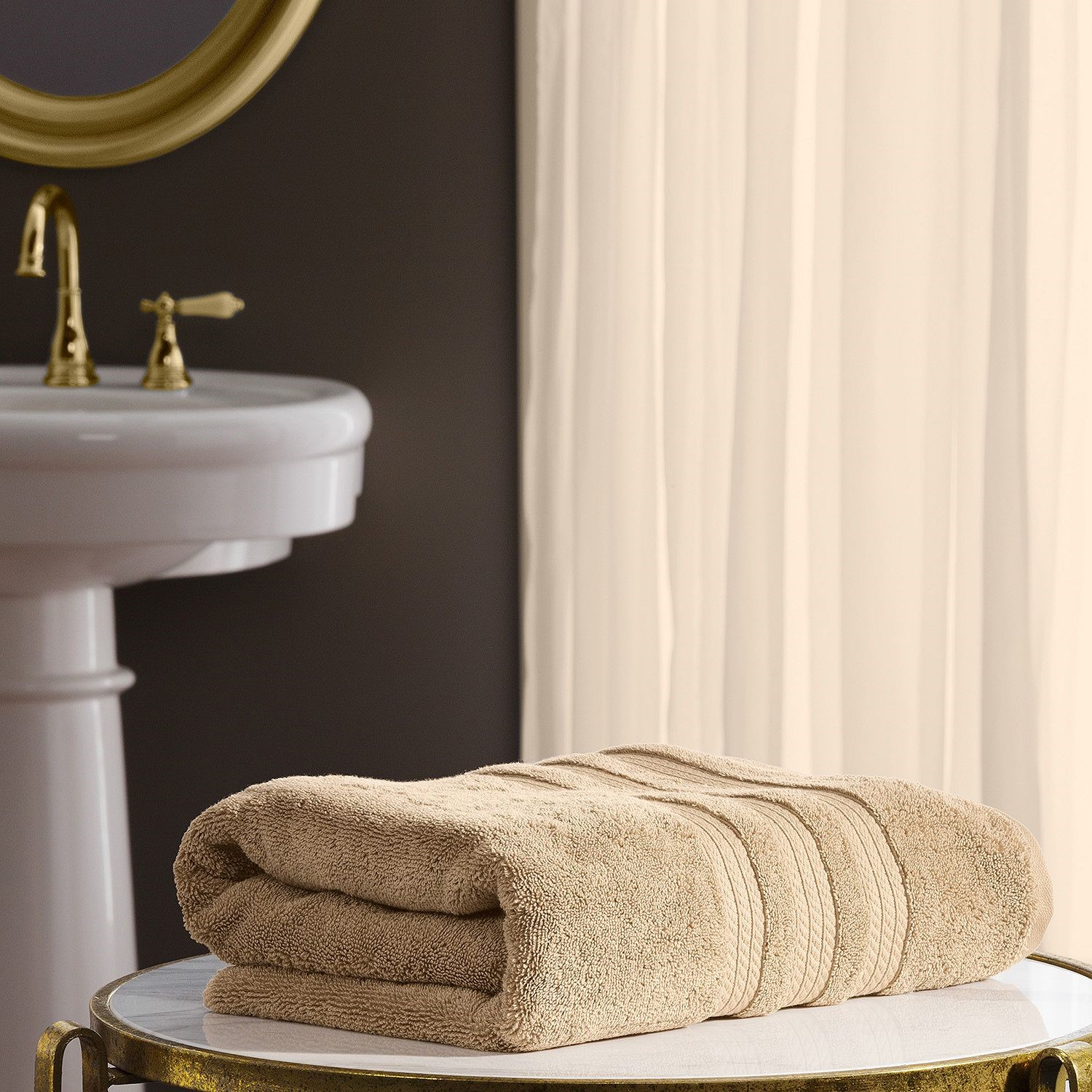 "Member's Mark Hotel Premier Collection 100% Cotton Luxury Bath Towel, 30"" x 58"", Linen"