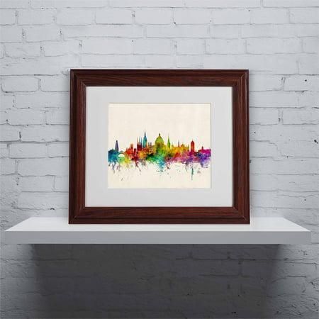 "Trademark Fine Art ""Oxford England Skyline"" Canvas Art by Michael Tompsett, Wood Frame"