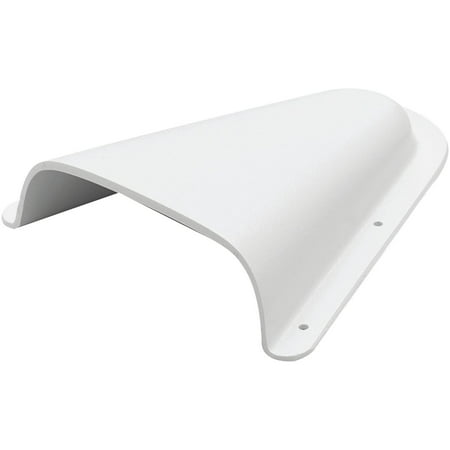 Beckson C4 Clam Shell Vent, White, 5-3/4
