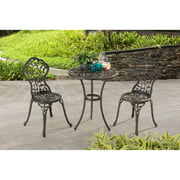"Sunjoy 110202004 Vinely 24"" x 24"" x 28.3"" Black Cast Iron and Cast Aluminum Bistro Set (Table)"