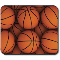 Art Plates Mouse Pad - Basketballs