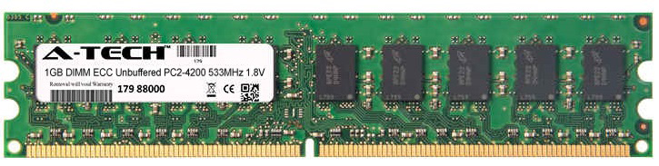 1GB Module PC2-4200 533MHz 1.8V ECC Unbuffered DDR2 DIMM Server 240-pin Memory Ram