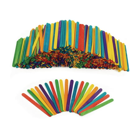 Colorations Regular Colored Wood Craft Sticks Popsicle Sticks, 1000 Pieces, 4-1/2: x 3/8 inches each (Item # 1000CS)