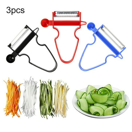 Supersellers Magic Trio Peeler 3pcs/set, Stainless Steel Slicer Fruit Vegetable Shredder Cutter Kitchen (Best Vegetable Peelers)