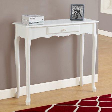 Monarch Accent Table 36 L Antique White Hall Console