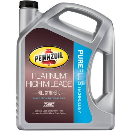 Pennzoil platinum high mileage 10w30 5 quart for Pennzoil high mileage motor oil