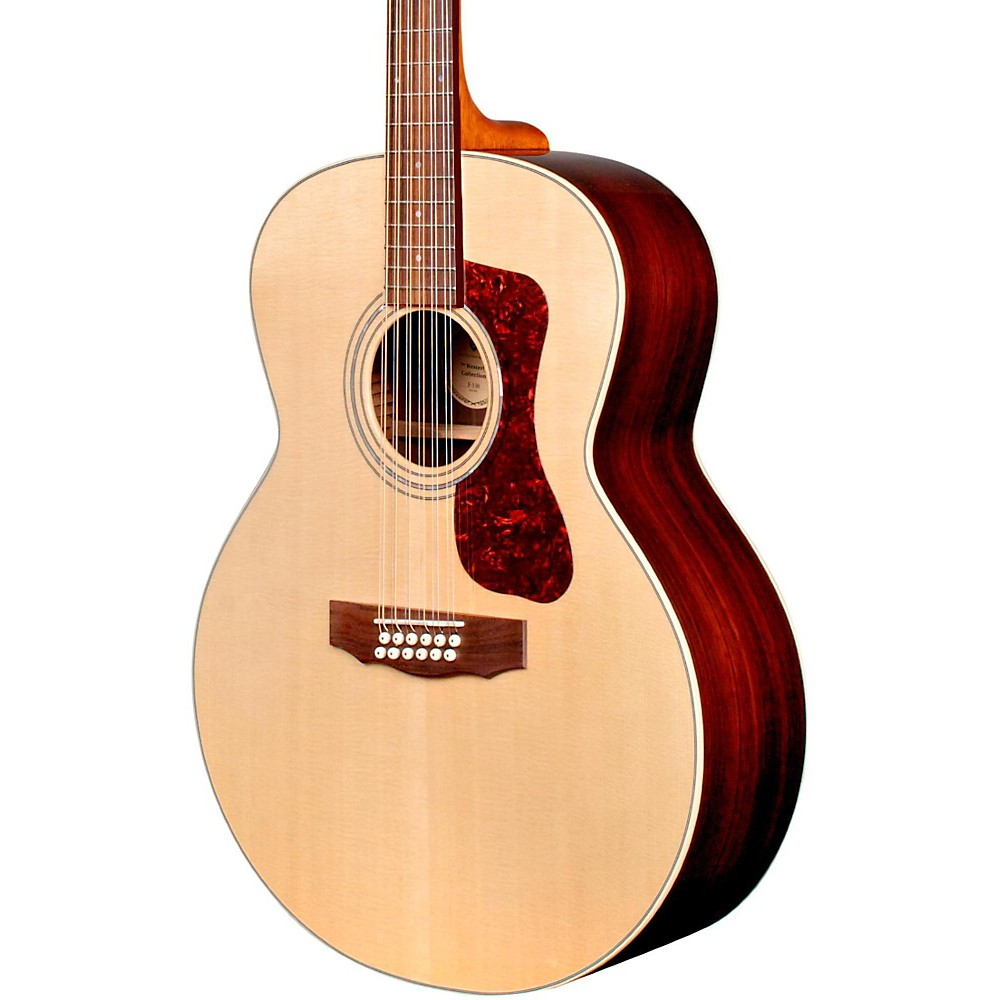 Guild F-1512E 12-String Acoustic-Electric Guitar Natural by Guild