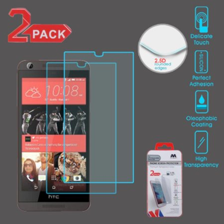 Insten 2-Pack Tempered Glass LCD Screen Protector Film Cover For HTC Desire 626 / - Htc Lcd