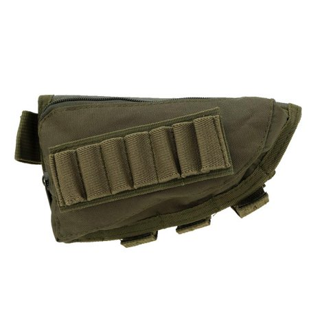 Outdoor Tactical Military Hunting Ammo Pouch Holder with Leather Pad