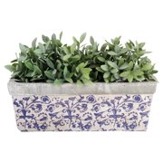 Esschert Design Aged Ceramic Balcony Planter