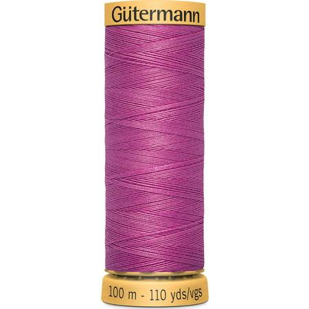 Gutermann Mercerized Cotton Bright Pink Thread, 110 Yd.
