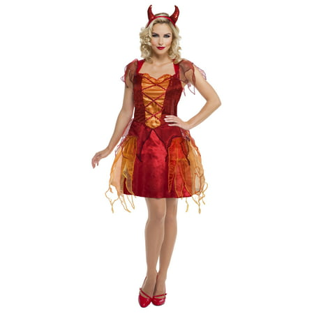 Girl Teen / Woman Devil Halloween Costume - Girl Devil Halloween Makeup