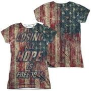 Fight Club - Losing Hope (Front/Back Print) - Juniors Cap Sleeve Shirt - Medium