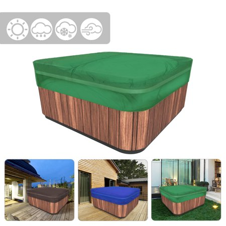 Veranda Square Hot Tub Cover Spa Covers Cap Waterproof Protector Oxford Fabric