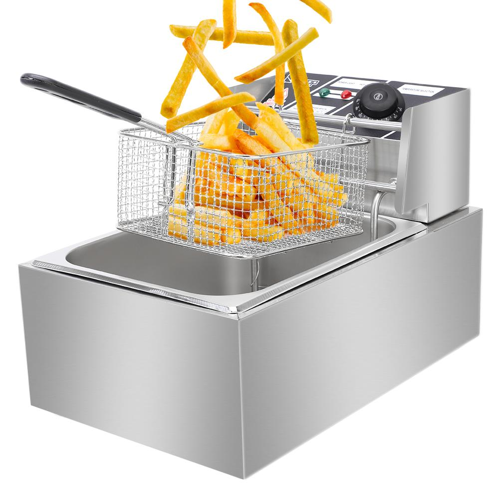Ktaxon Deep Fryer with Basket Strainer Perfect for Chicken, Shrimp, French Fries and More, Removable