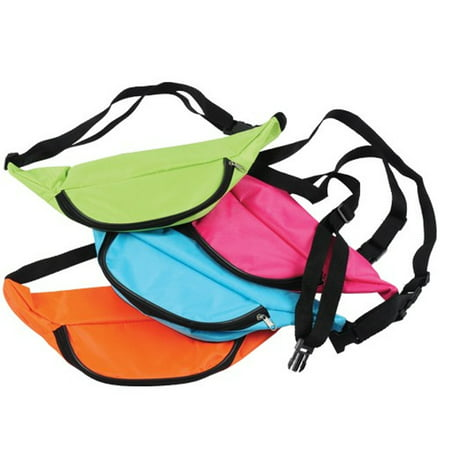 Party Fanny Pack (Neon Fanny Pack Light Blue Bag Bright Rave Club Festival 3 Pocket)
